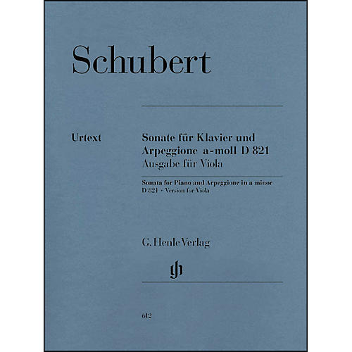 G. Henle Verlag Sonata for Piano and Arpeggione A minor D 821 (Op. Posth.) By Schubert thumbnail