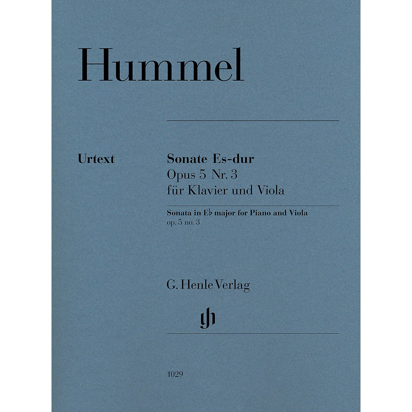 G. Henle Verlag Sonata for Piano and Viola in E-flat Major Op 5 No 3 by Johann Nepomuk Hummel Edited by Ernst Herttrich thumbnail