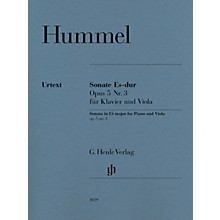 G. Henle Verlag Sonata for Piano and Viola in E-flat Major Op 5 No 3 by Johann Nepomuk Hummel Edited by Ernst Herttrich