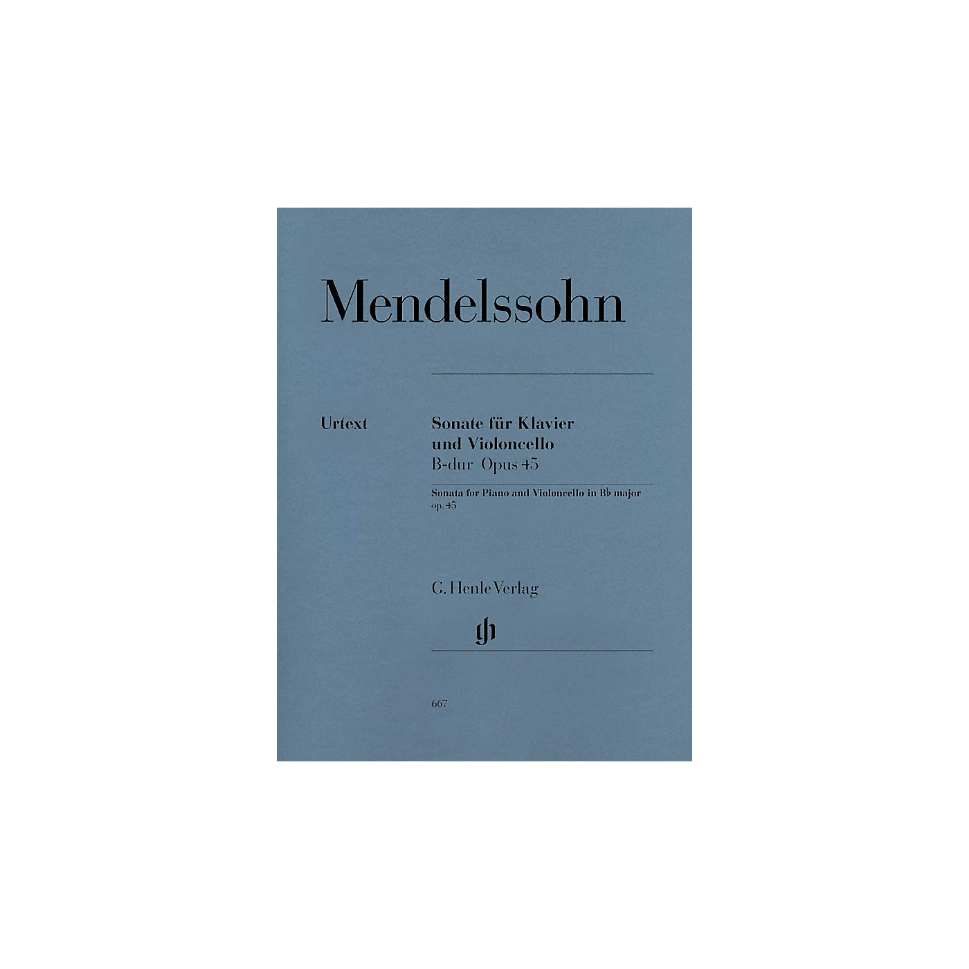 G. Henle Verlag Sonata for Piano and Violoncello B Flat Major Op. 45 Henle Music Folios Series Softcover thumbnail