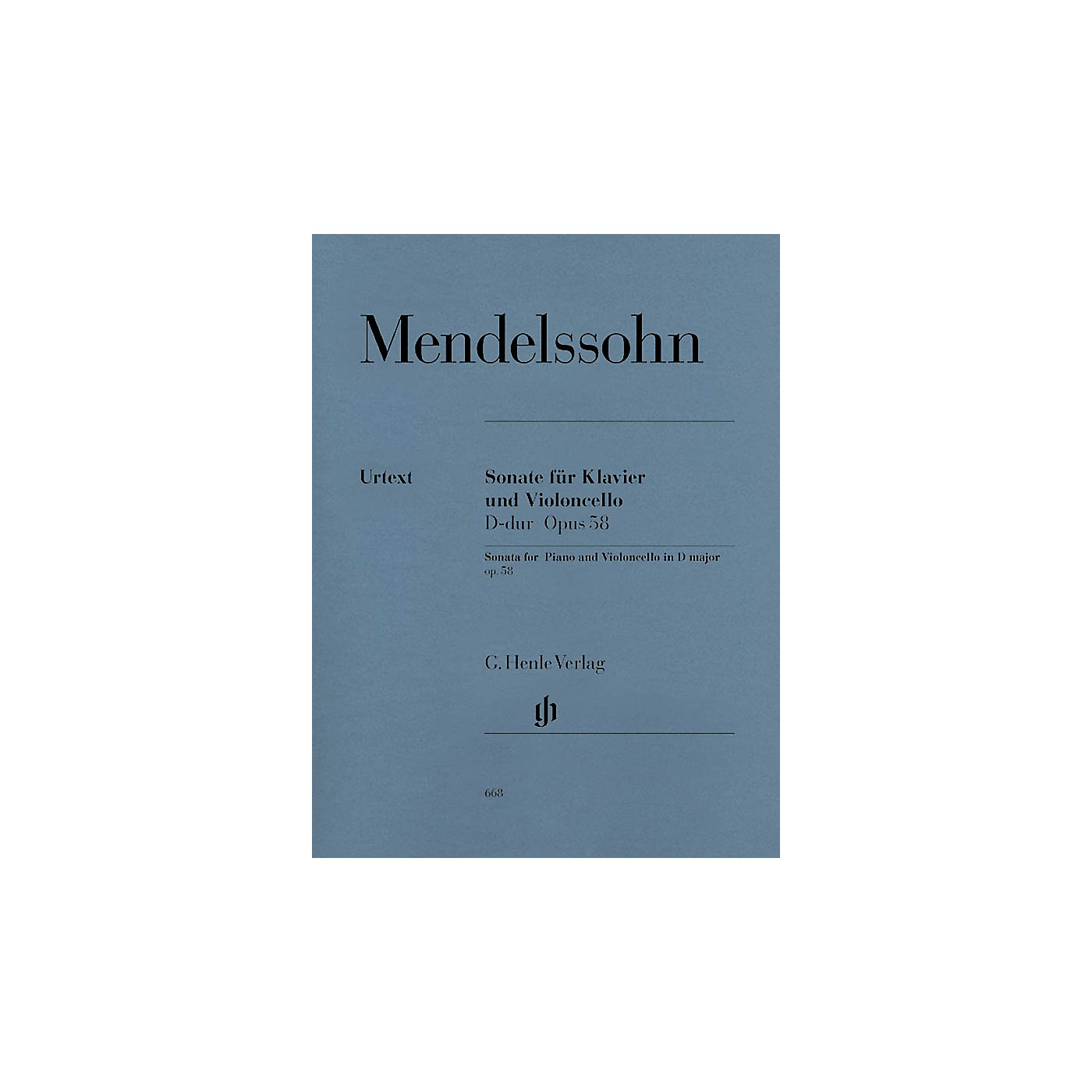 G. Henle Verlag Sonata for Piano and Violoncello D Major Op. 58 (Cello and Piano) Henle Music Folios Series Softcover thumbnail