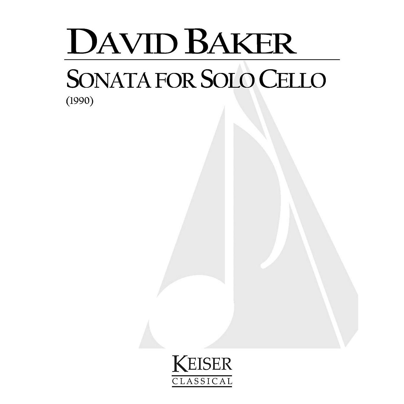 Lauren Keiser Music Publishing Sonata for Solo Cello LKM Music Series Composed by David Baker thumbnail