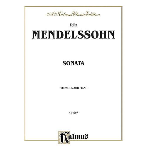 Alfred Sonata for Viola By Felix Mendelssohn Book thumbnail