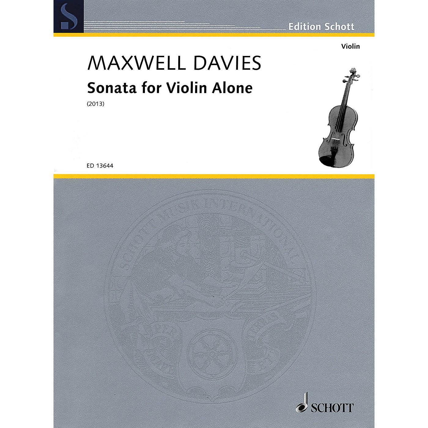 Schott Sonata for Violin Alone String Solo Series Softcover thumbnail