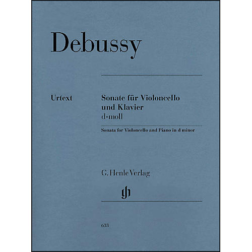 G. Henle Verlag Sonata for Violoncello And Piano In D Minor By Debussy-thumbnail