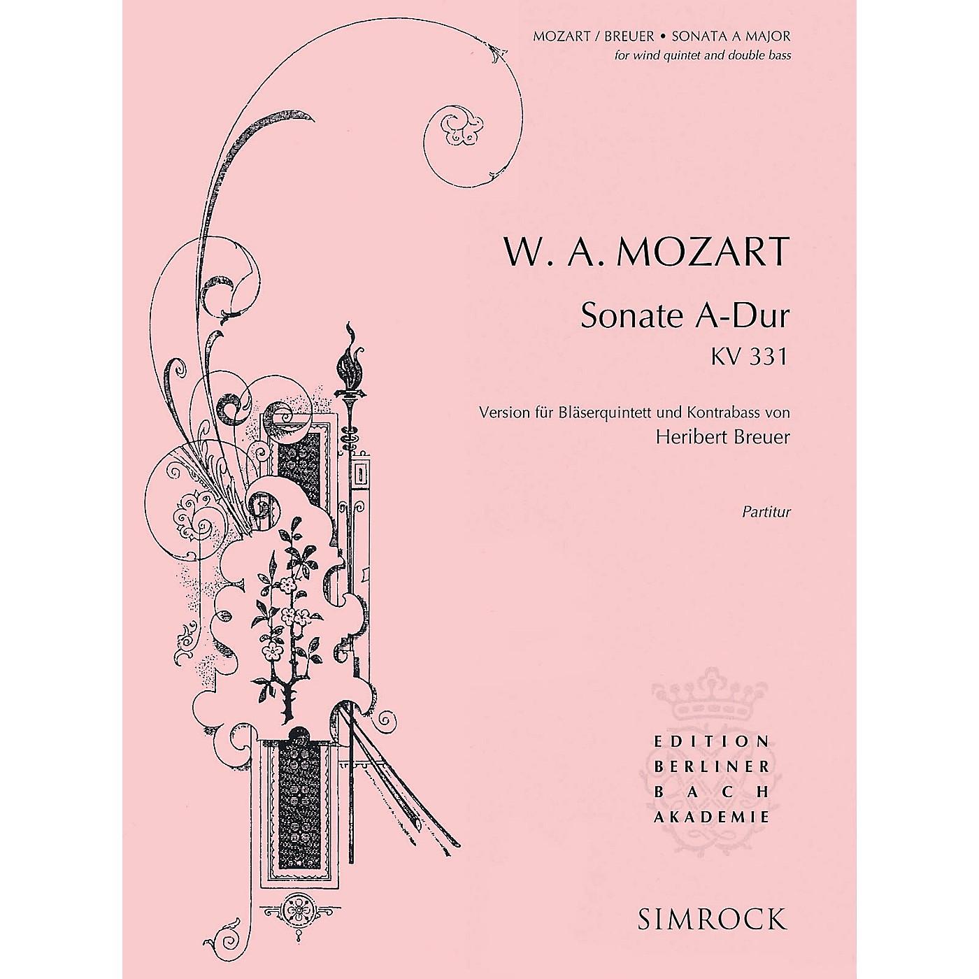 Simrock Sonata in A Major, K. 331 Composed by Wolfgang Amadeus Mozart Arranged by Heribert Breuer thumbnail