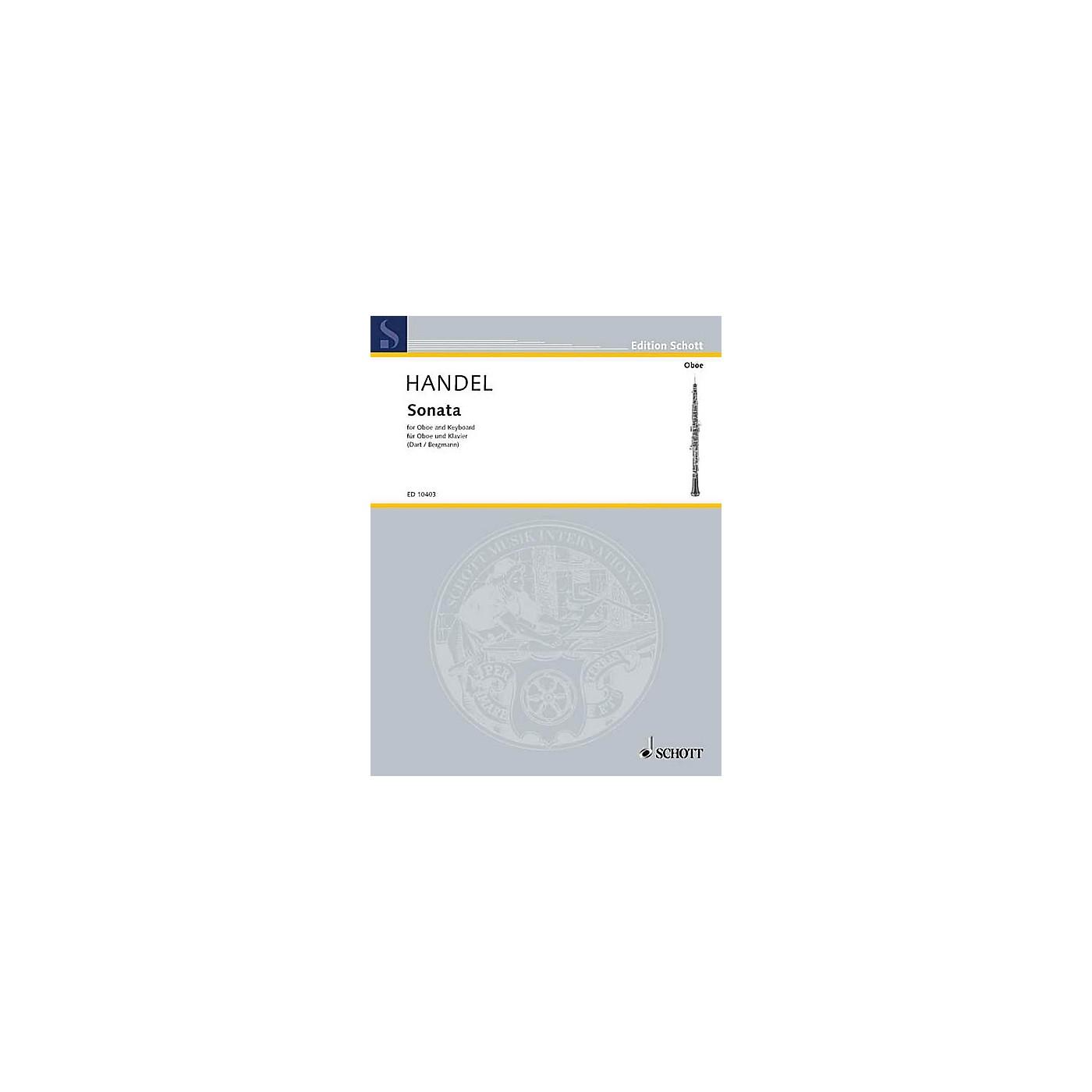 Schott Sonata in B Flat Maj (Oboe with Piano Accompaniment) Schott Series thumbnail