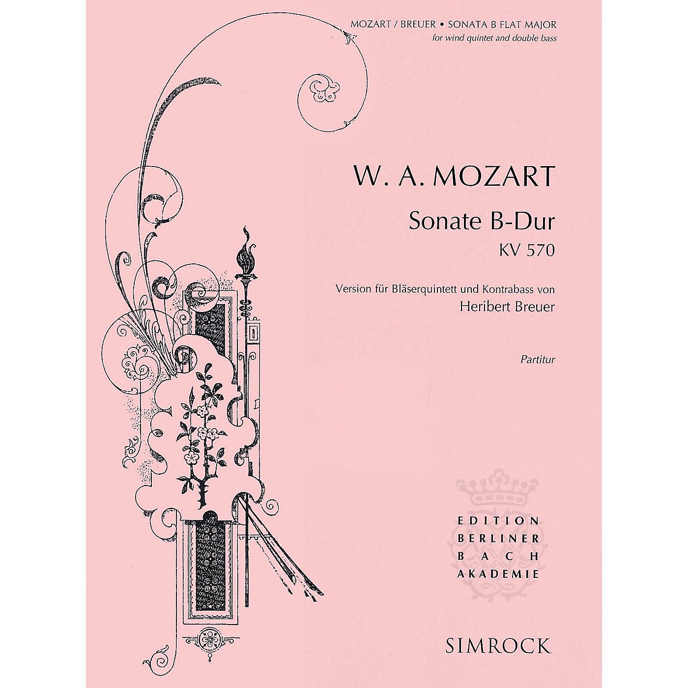 Simrock Sonata in B-Flat Major, K. 570 Composed by Wolfgang Amadeus Mozart Arranged by Heribert Breuer thumbnail