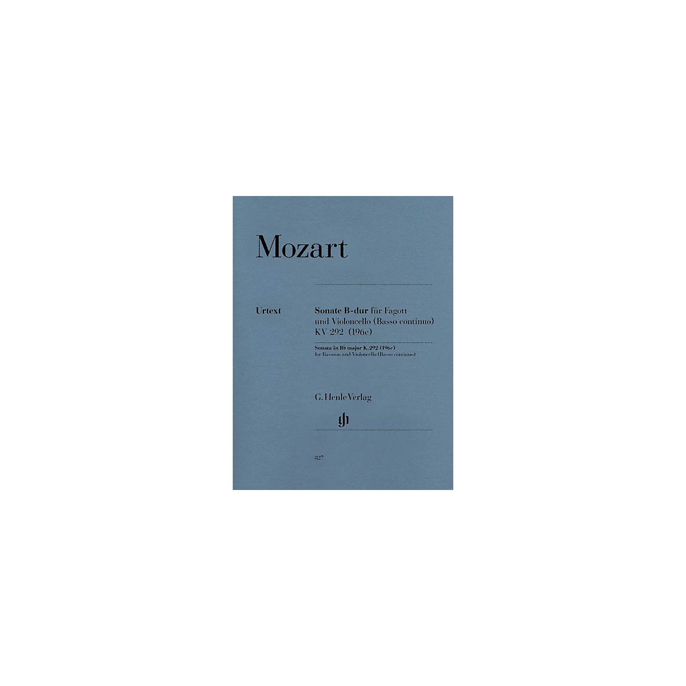 G. Henle Verlag Sonata in B-flat Major, K. 292 (196c) by Wolfgang Amadeus Mozart Arranged by Wolfgang Kostujak thumbnail