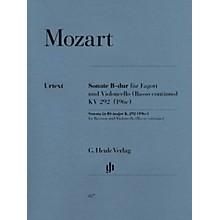 G. Henle Verlag Sonata in B-flat Major, K. 292 (196c) by Wolfgang Amadeus Mozart Arranged by Wolfgang Kostujak