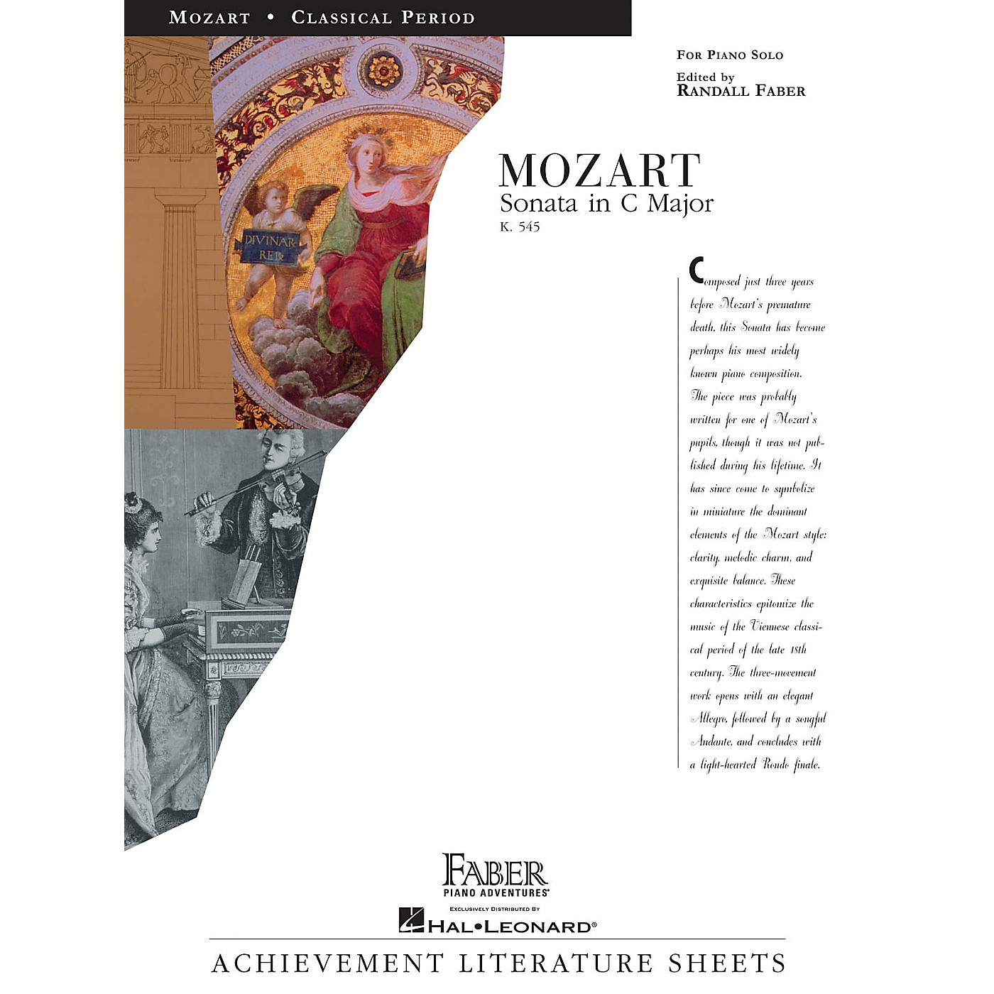 Faber Piano Adventures Sonata in C Major (K545) Faber Piano Adventures® Series Composed by Wolfgang Amadeus Mozart thumbnail