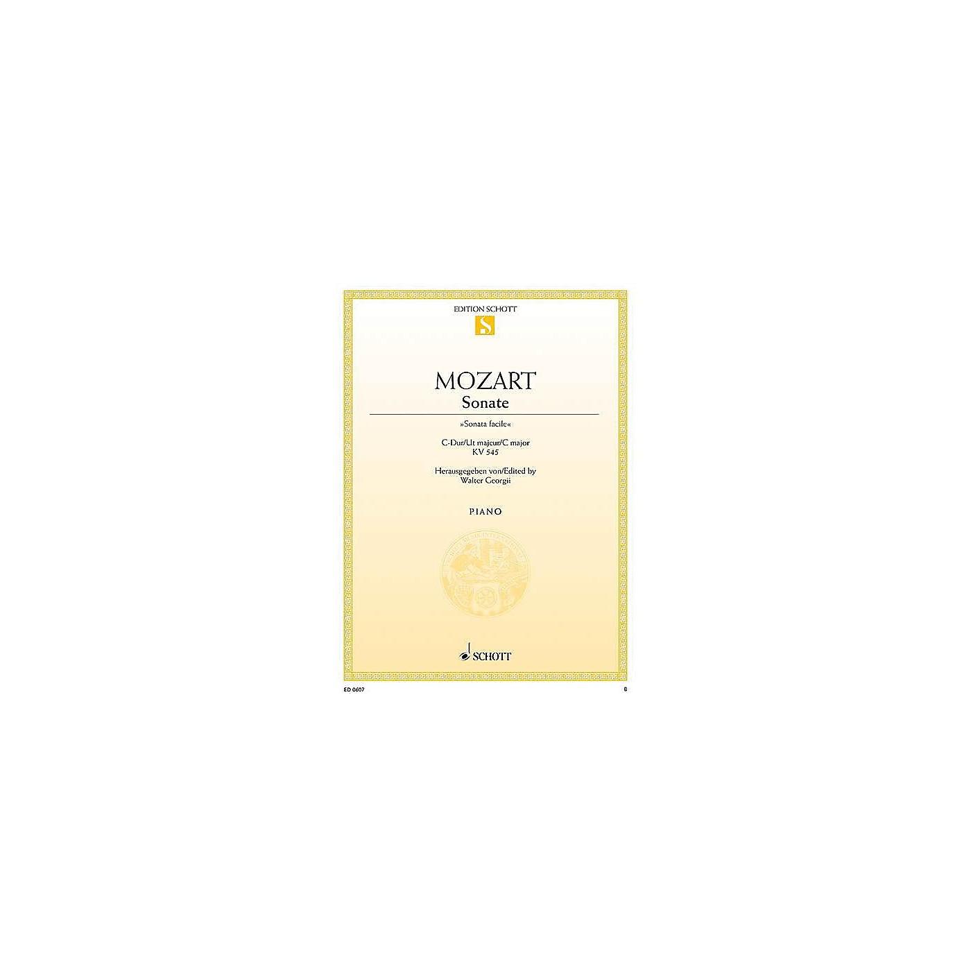 Schott Sonata in C Major, KV 545, Sonata Facile Schott Series thumbnail