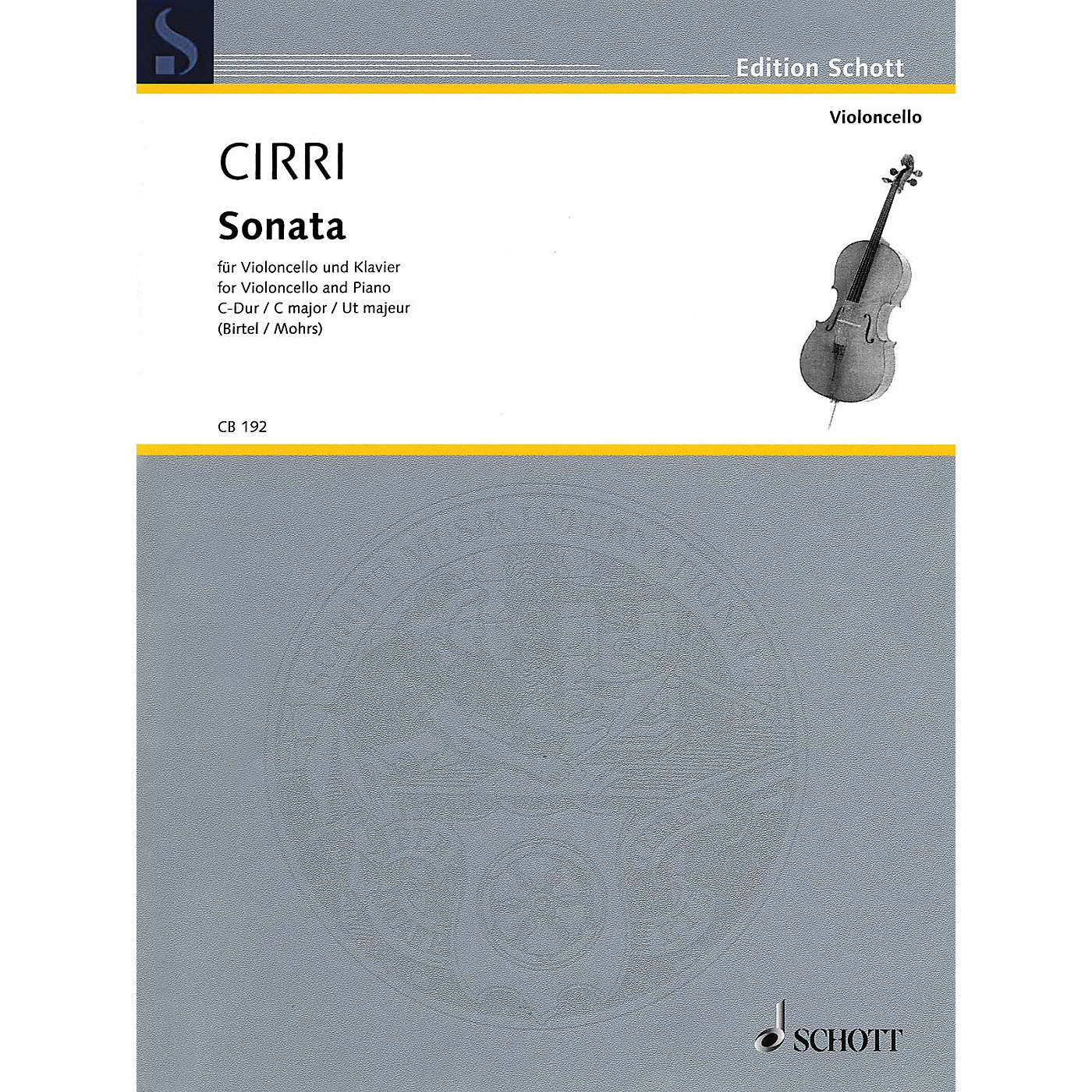 Schott Sonata in C Major (Violoncello and Piano) String Series Softcover thumbnail