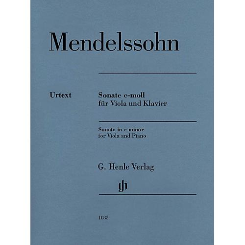 G. Henle Verlag Sonata in C Minor Henle Music Composed by Mendelssohn Bartholdy Edited by Ernst Herttrich thumbnail