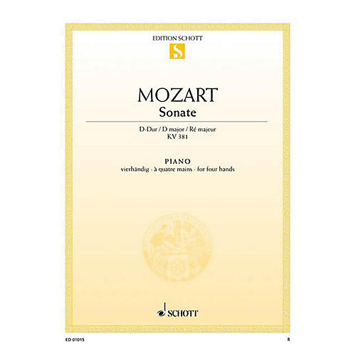 Schott Sonata in D Major, KV 381 Schott Series thumbnail