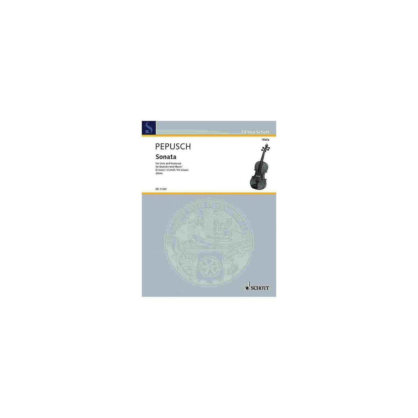 Schott Sonata in D minor (Viola and Piano) Schott Series thumbnail