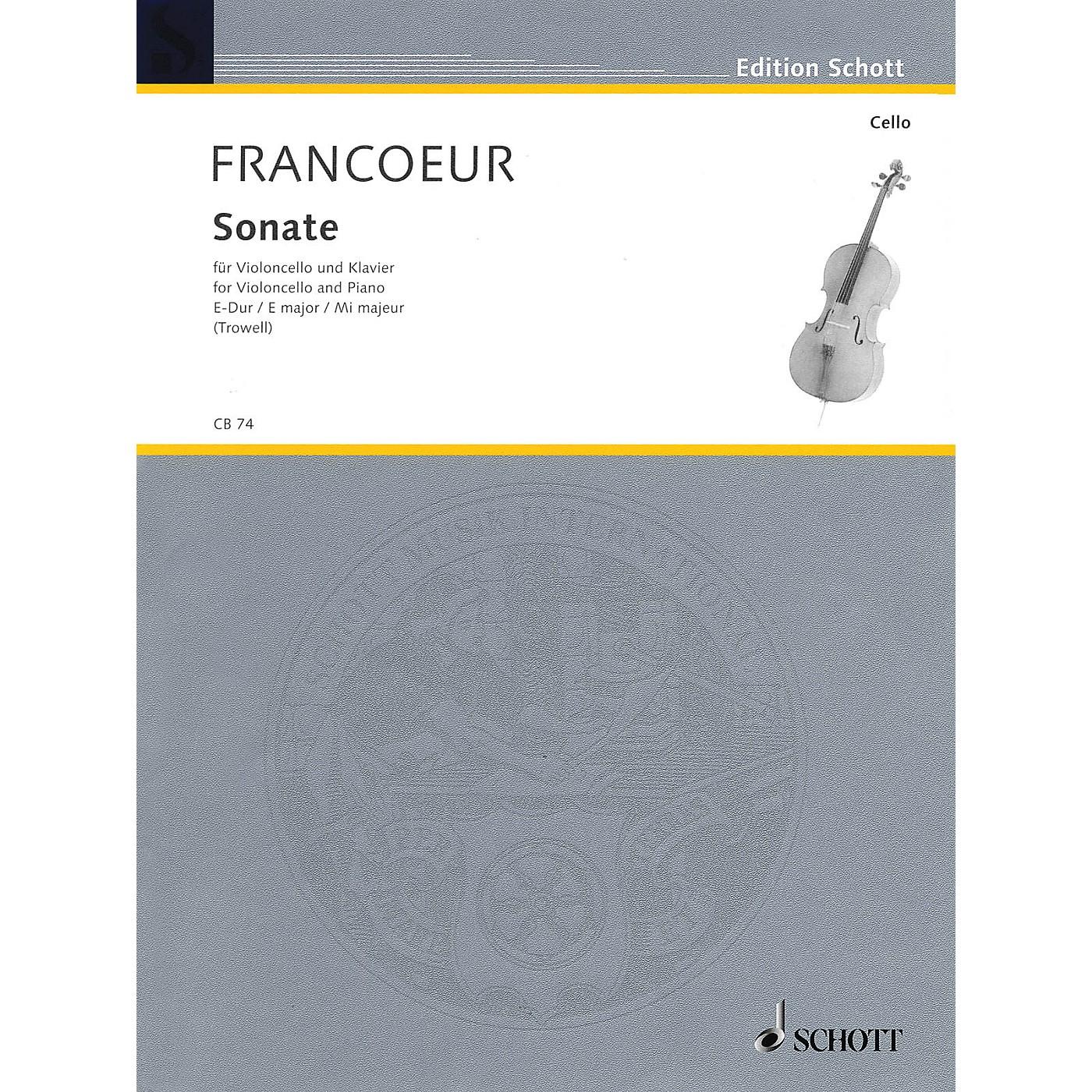 Schott Sonata in E Major (Cello and Piano) Schott Series thumbnail