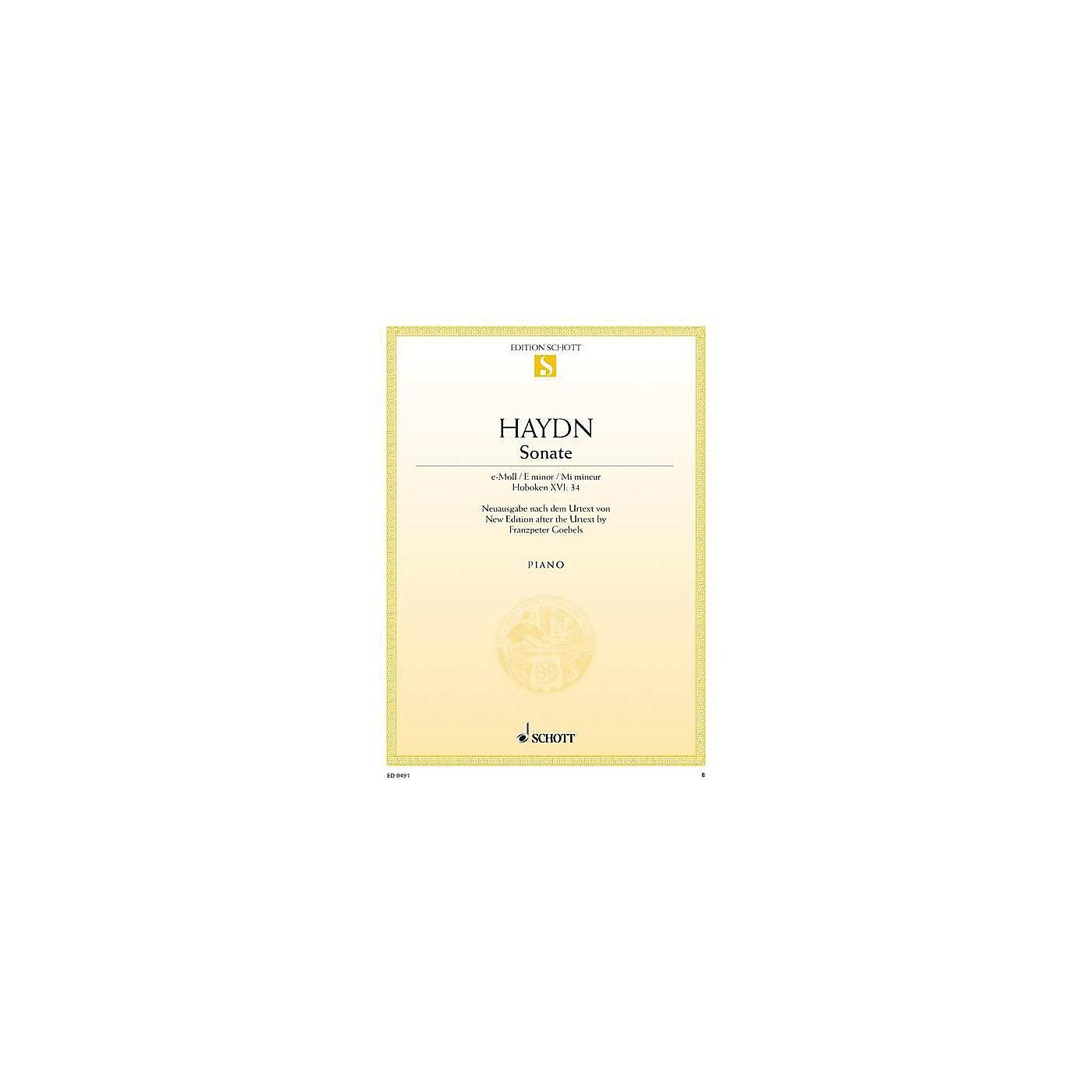 Schott Sonata in E Minor, Hob 16:34 (from the Urtext) Schott Series thumbnail