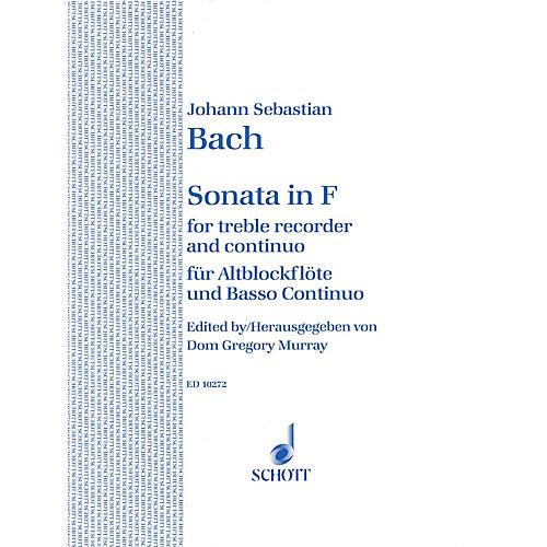 Schott Sonata in F Major Schott Series by Johann Sebastian Bach Arranged by Dom Gregory Murray thumbnail
