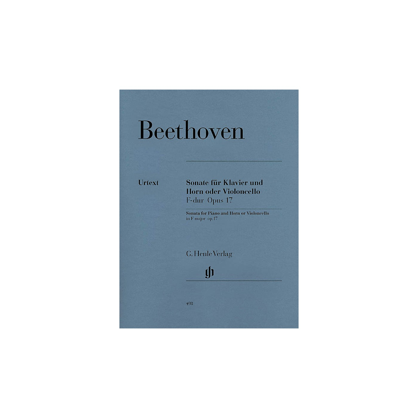 G. Henle Verlag Sonata in F Major for Piano and Horn (or Violoncello) Op. 17 Henle Music Folios Series Softcover thumbnail