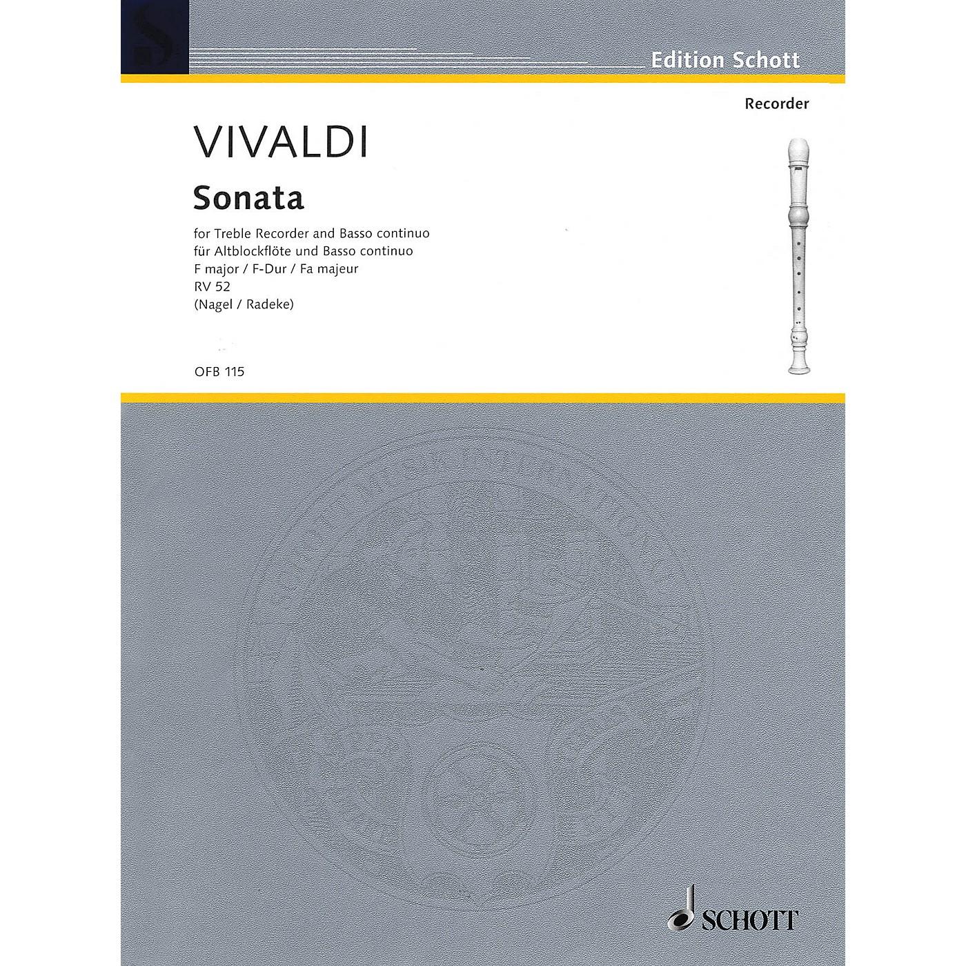 Schott Sonata in F Major (for Treble Recorder and B.C.) Schott Series thumbnail