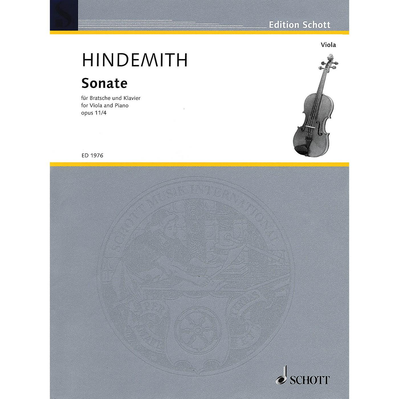 Schott Sonata in F, Op. 11, No. 4 (1919) (Viola and Piano) Schott Series Softcover thumbnail
