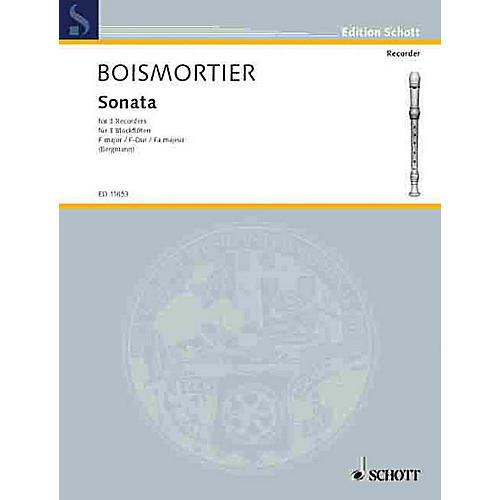 Schott Sonata in F, Op. 7, No. 1 (Performance Score) Schott Series by Joseph Bodin De Boismortier thumbnail