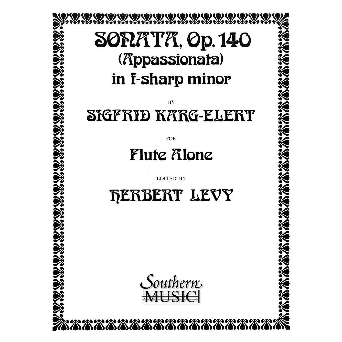 Southern Sonata in F Sharp Minor, Op. 140 (Unaccompanied Flute) Southern Music Series Arranged by Herbert Levy thumbnail