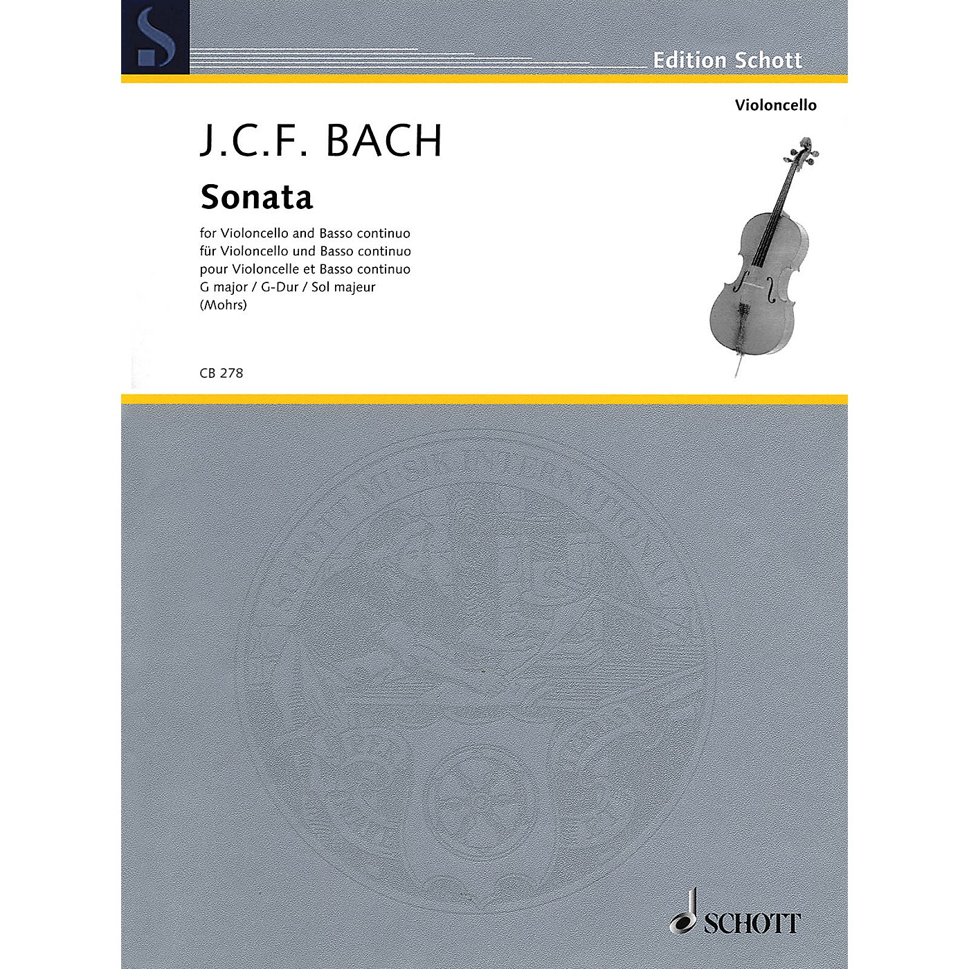 Schott Sonata in G Major (Cello and Basso Continuo) String Series thumbnail