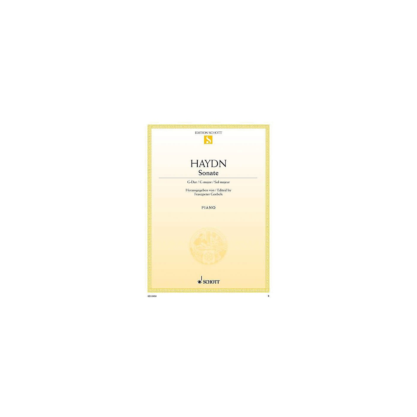 Schott Sonata in G Major, Hob 16:27 (from the Urtext) Schott Series thumbnail