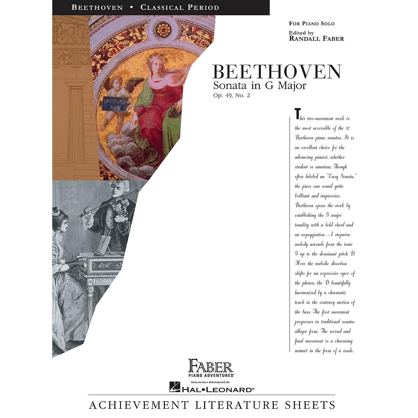 Faber Piano Adventures Sonata in G Major Op. 49, No. 2 Faber Piano Adventures Series Composed by Ludwig van Beethoven thumbnail