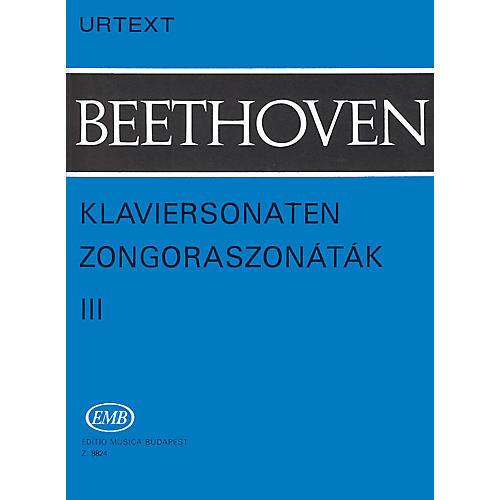 Editio Musica Budapest Sonatas - Volume 3 EMB Series Composed by Ludwig van Beethoven thumbnail