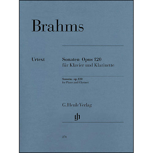 G. Henle Verlag Sonatas for Piano And Clarinet (Or Viola) Op. 120, Nos. 1 And 2 By Brahms-thumbnail