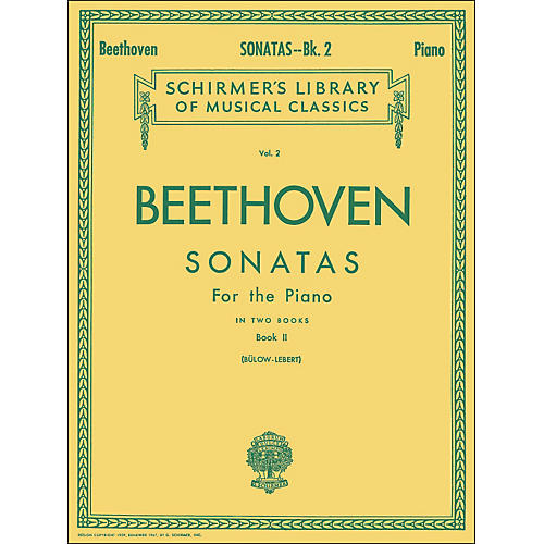 G. Schirmer Sonatas for Piano Book 2 By Beethoven thumbnail