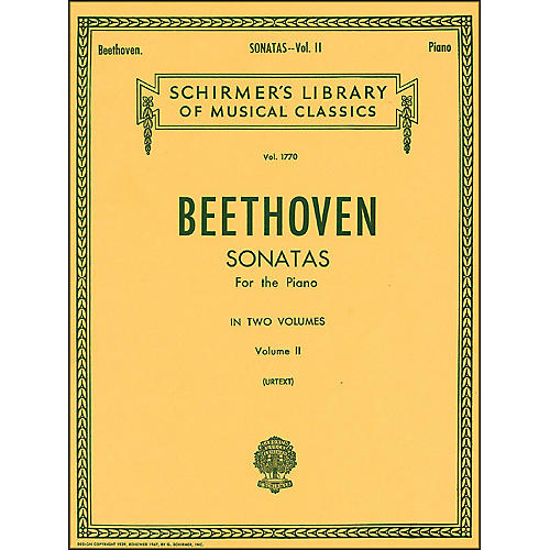 G. Schirmer Sonatas for Piano Volume 2 Urtext By Beethoven thumbnail