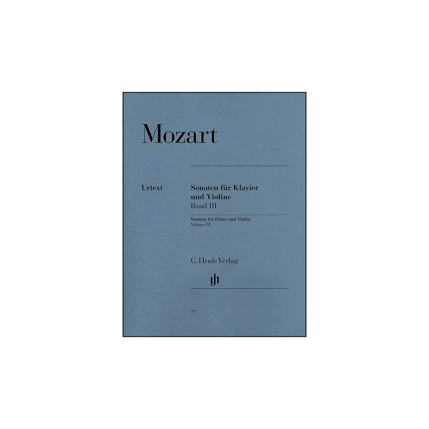 G. Henle Verlag Sonatas for Piano and Violin - Volume III By Mozart thumbnail