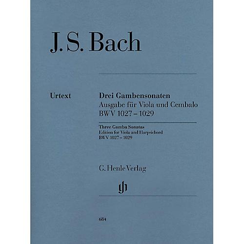 G. Henle Verlag Sonatas for Viola da Gamba and Harpsichord BWV 1027-1029 (Viola Solo) Henle Music Folios Series Softcover thumbnail
