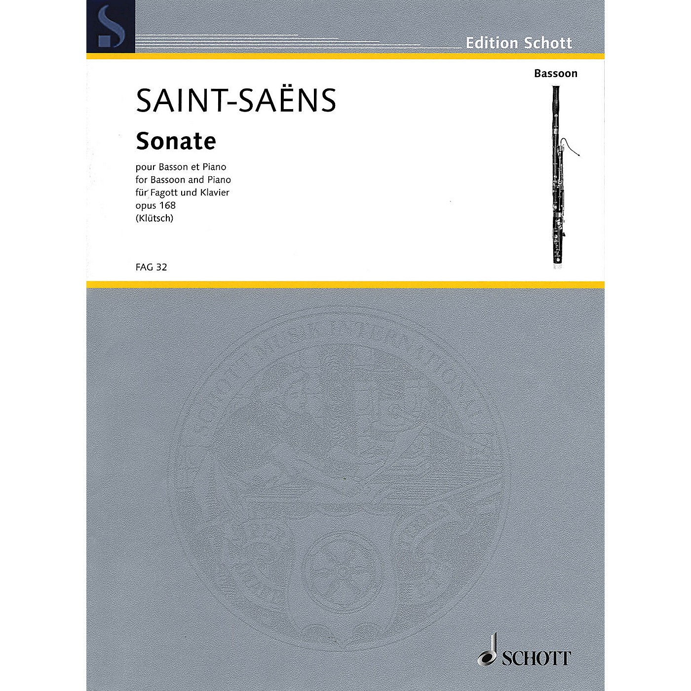 Schott Sonate, Op 168 (Bassoon and Piano) Woodwind Series Book thumbnail