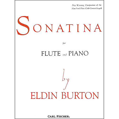 Carl Fischer Sonatina For Flute and Piano thumbnail