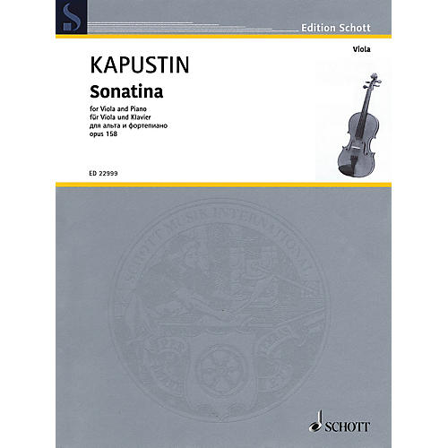Schott Sonatina, Op. 158 for Viola and Piano by Kapustin thumbnail