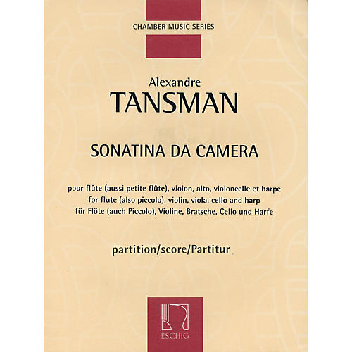 Max Eschig Sonatina da camera (Score) Editions Durand Series Composed by Alexandre Tansman thumbnail