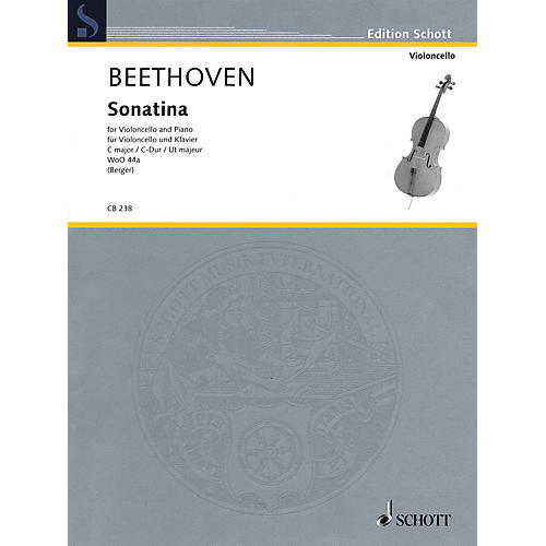 Schott Sonatina for Cello and Piano, WoO 44a String Series Softcover thumbnail