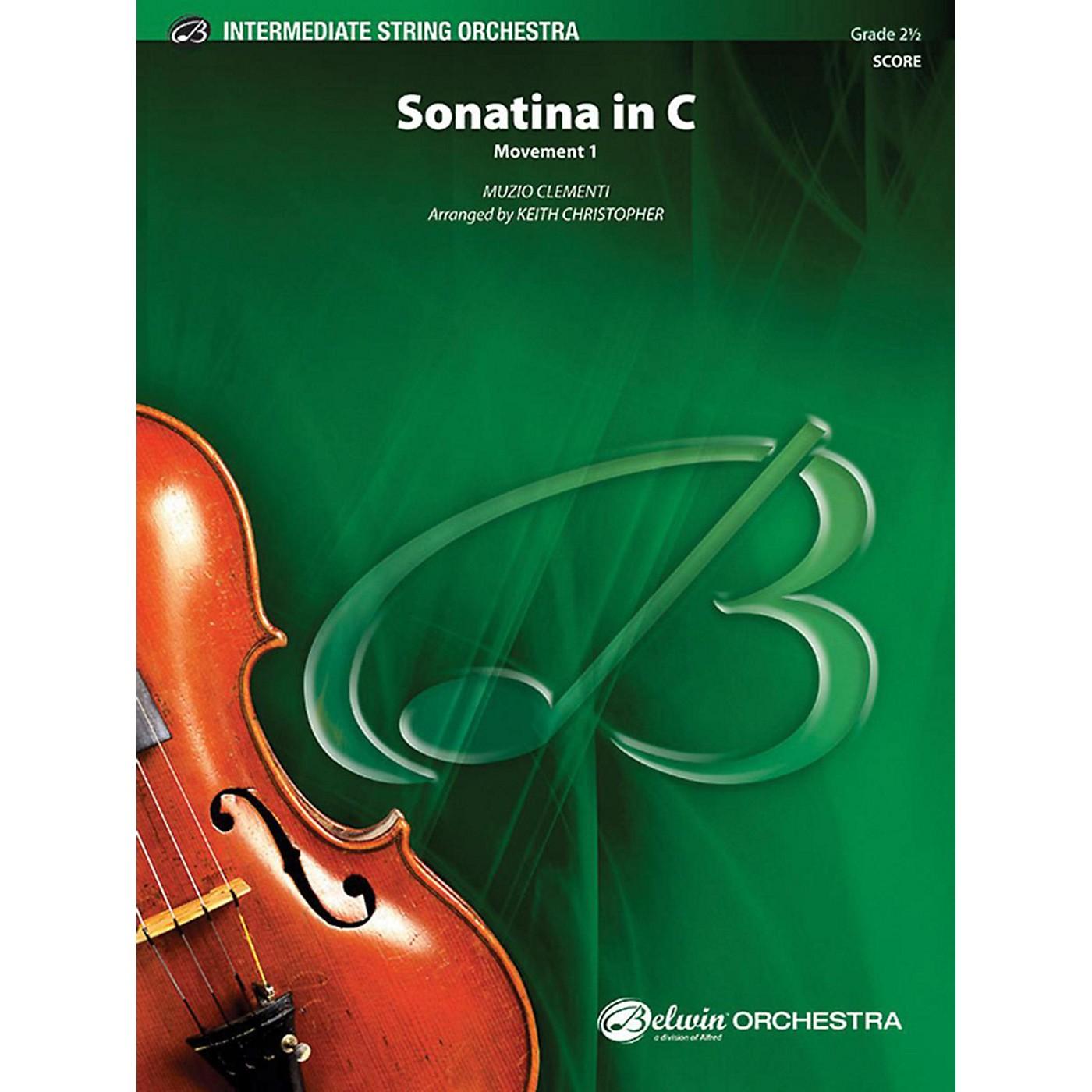 Alfred Sonatina in C String Orchestra Grade 2.5 thumbnail
