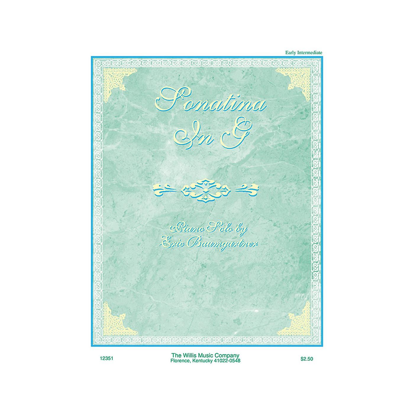 Willis Music Sonatina in G (Early Inter Level) Willis Series by Eric Baumgartner thumbnail