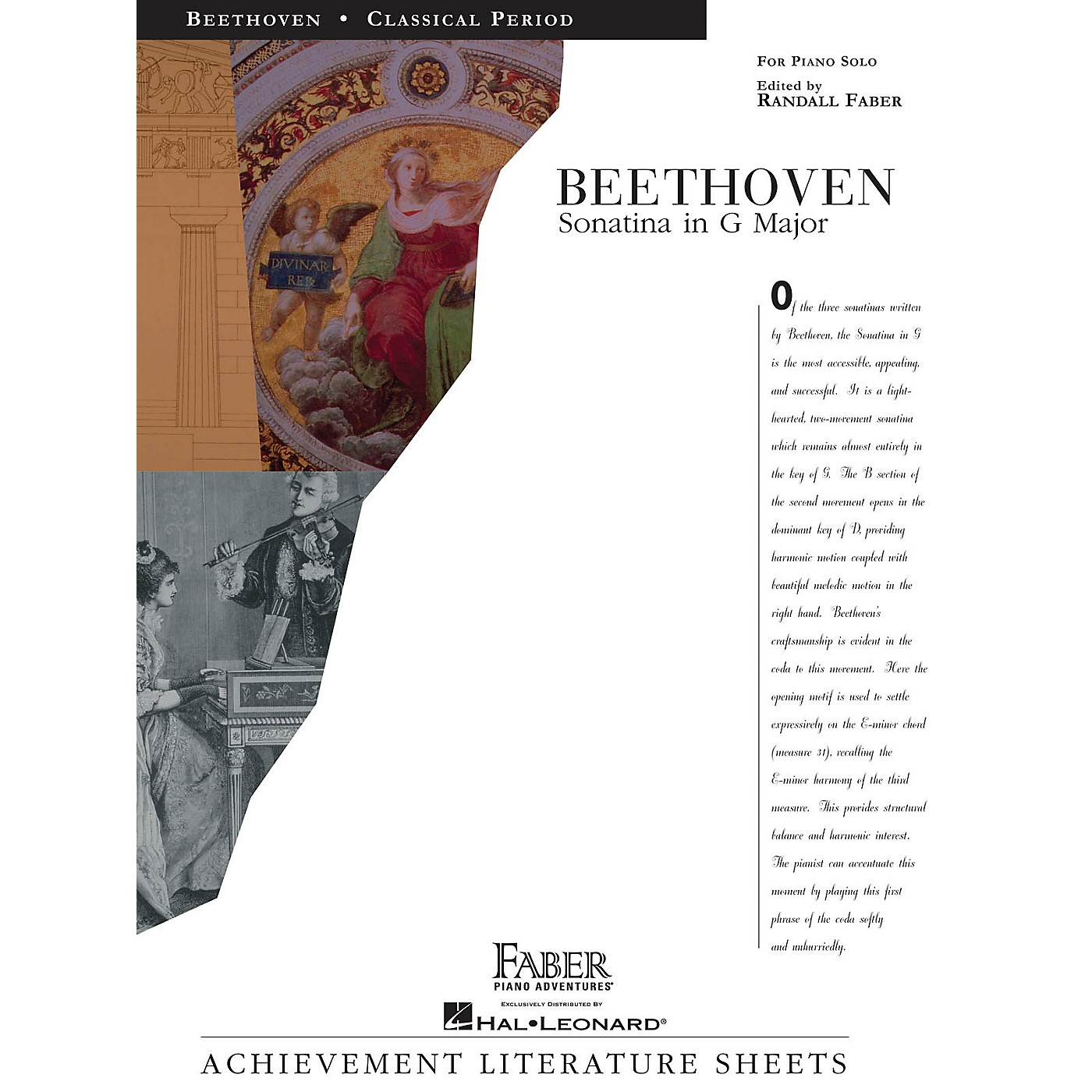 Faber Piano Adventures Sonatina in G Major Faber Piano Adventures® Series Composed by Ludwig van Beethoven thumbnail