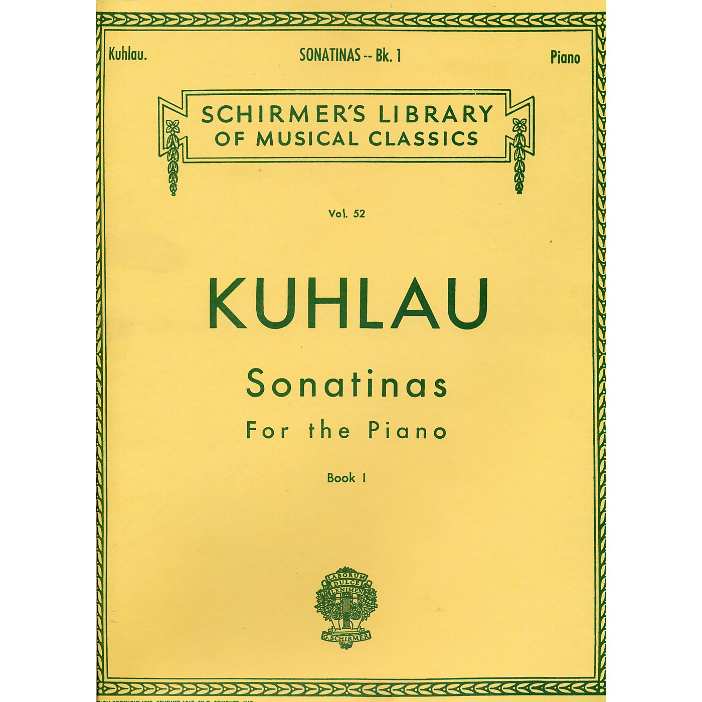 G. Schirmer Sonatinas for The Piano Book 1 By Kuhlau thumbnail