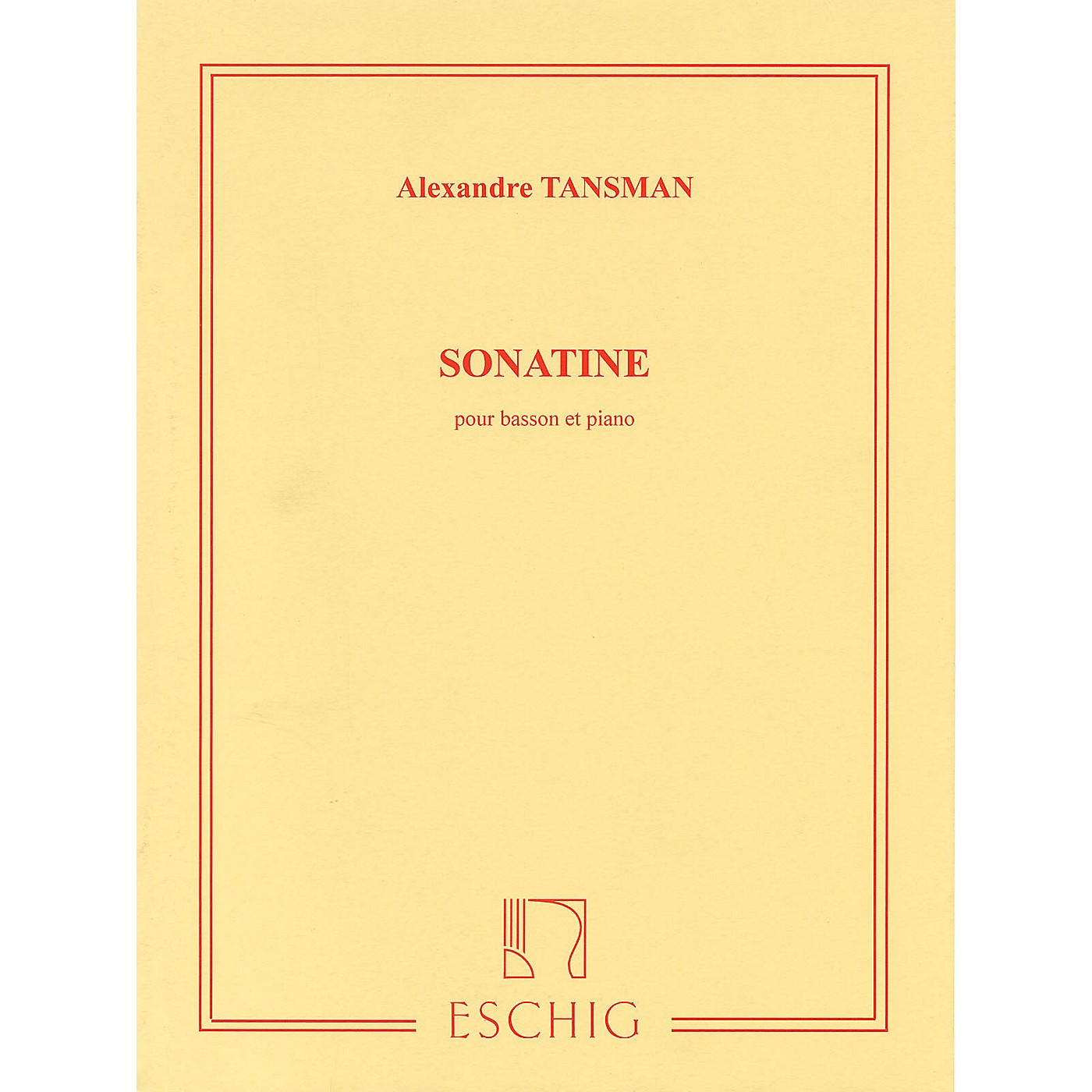 Max Eschig Sonatine Editions Durand Series Composed by Alexandre Tansman thumbnail