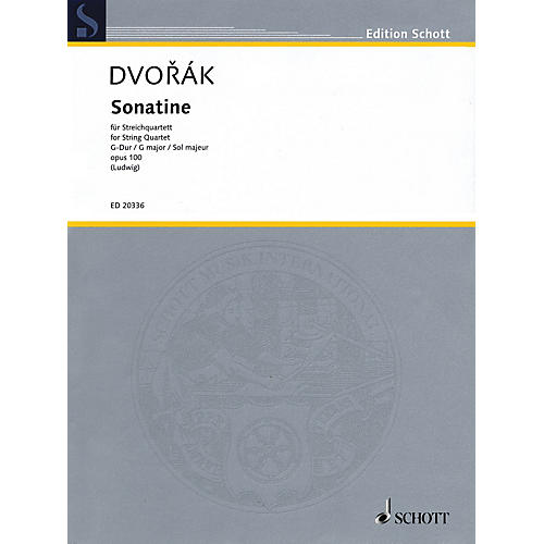 Schott Music Sonatine (String Quartet Score and Parts) String Series Composed by Antonín Dvorák thumbnail