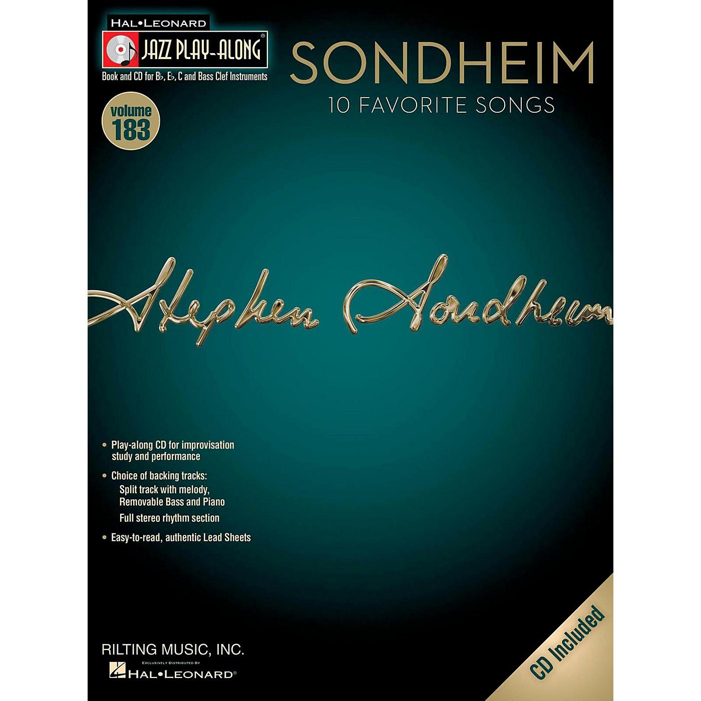 Hal Leonard Sondheim - Jazz Play-Along Volume 183 Book/CD thumbnail