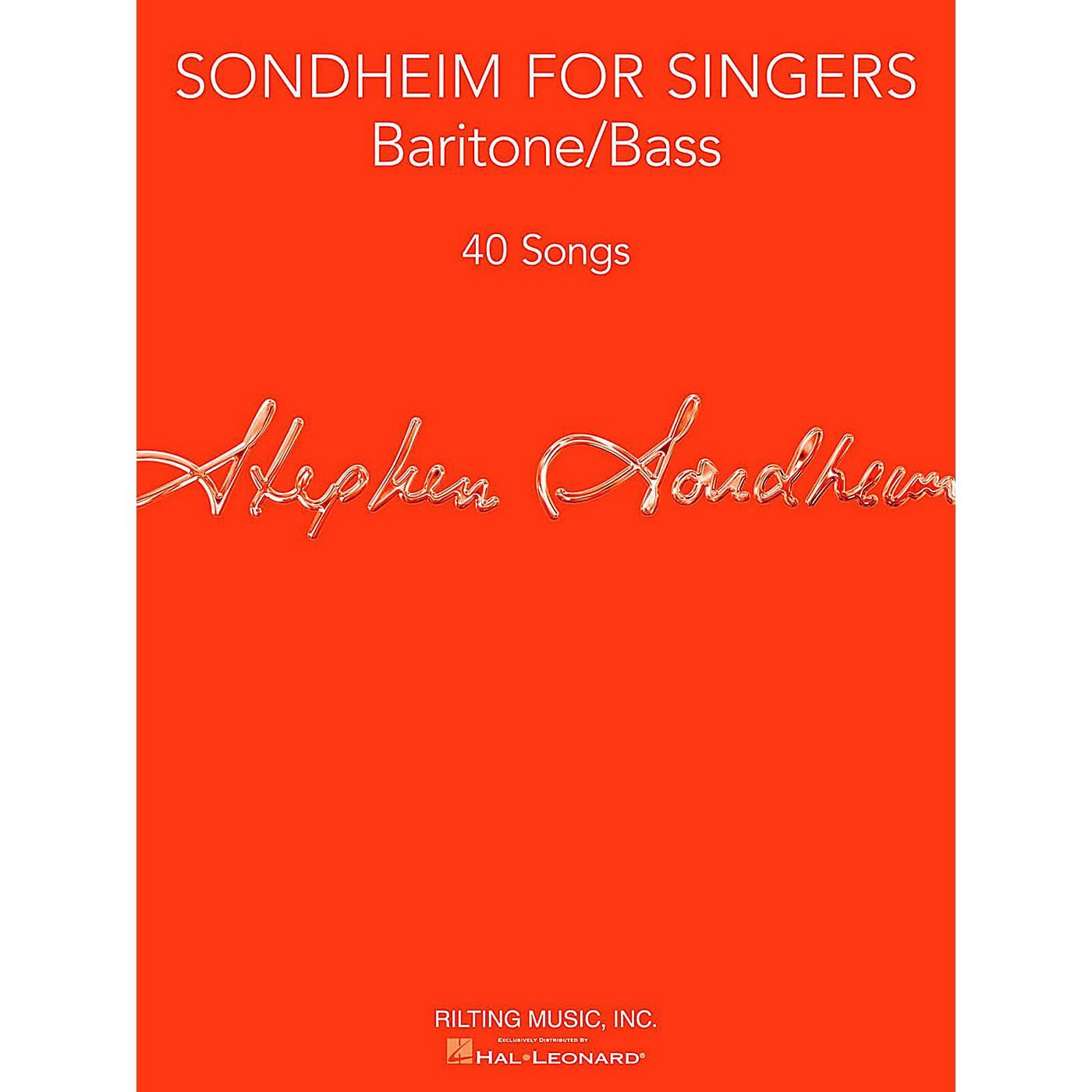 Hal Leonard Sondheim For Singers - Baritone/Bass thumbnail